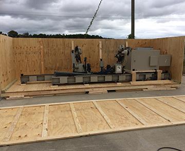 heavy equipment crating