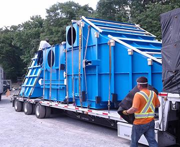 flatbed trailer loading
